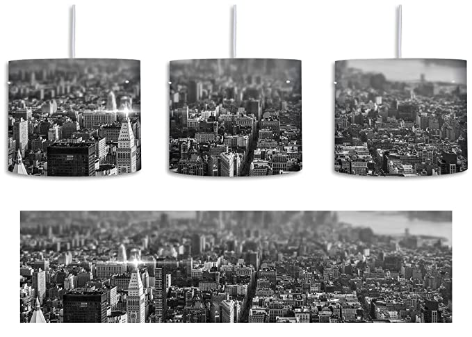 B&W New York City - Lámpara de techo (casquillo E27, 30 cm ...