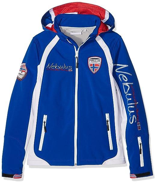 Nebulus Giacca Sci Softshell Schweden Blu Bianco M  Amazon.it  Abbigliamento b7270b37bc4