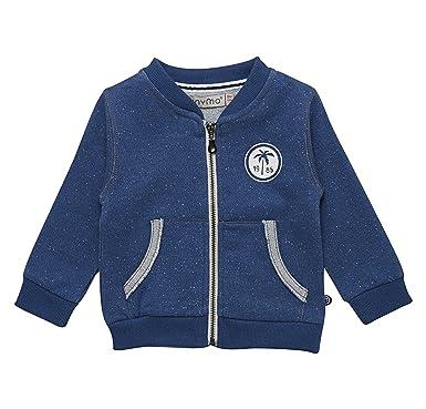 4d3c5a0dca minymo Baby Jungen Sweat-Cardigan blau meliert: Amazon.de: Bekleidung