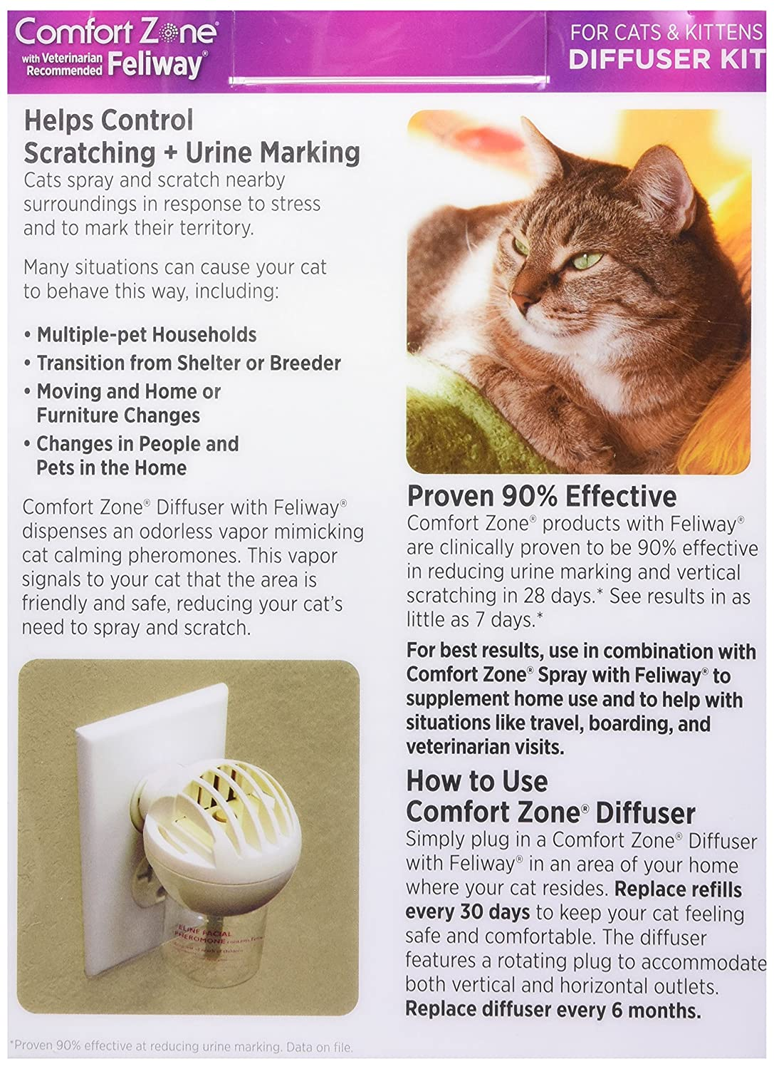 Amazoncom Comfort Zone Feliway Diffuser Kit For Cat Calming - 22 cats living better life right now