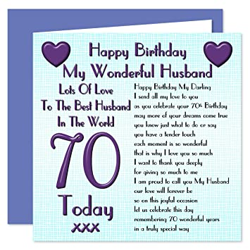 Husband 70th happy birthday card lots of love to the best husband husband 70th happy birthday card lots of love to the best husband in the world bookmarktalkfo Images