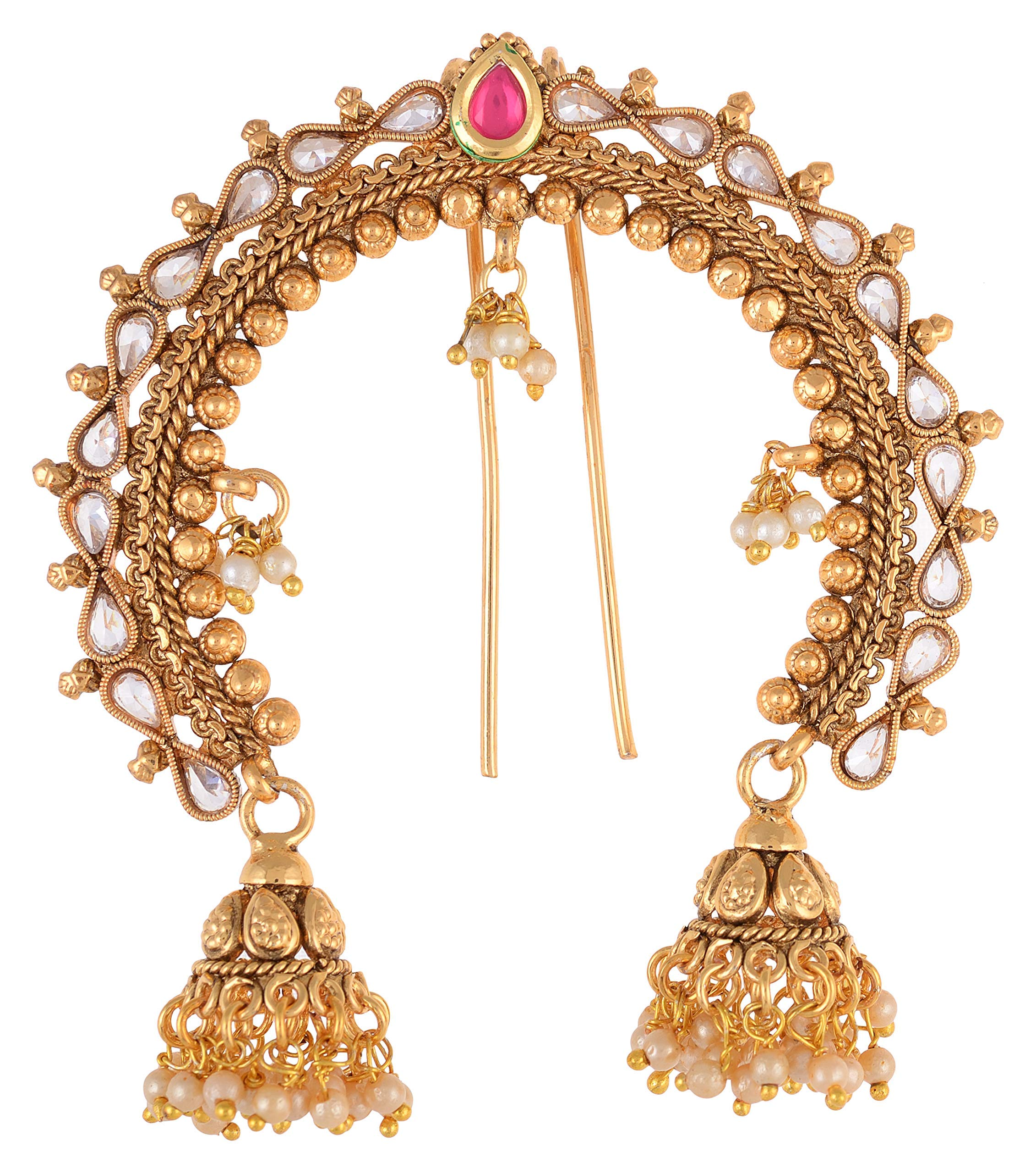 AakarShana Jewels Traditional Indian Look Hair Accessories Best Match for Bollywood Dance Looks Like Natural Flowers Party Accessories for Weddings Proms Parties or Other Occassions by AakarShan jewels