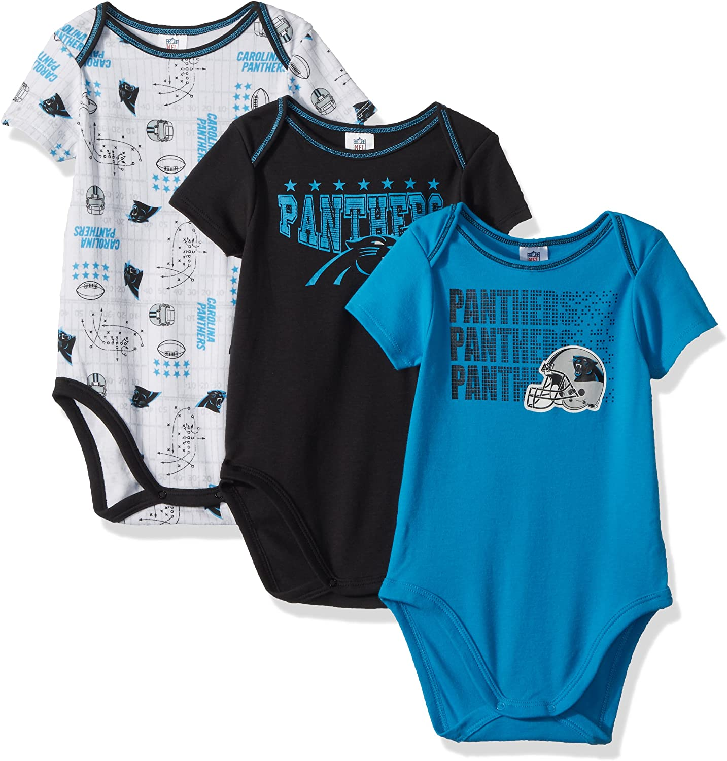Outerstuff NFL Infant Girls New Orleans Saints Assorted 3 Pack Creeper Set