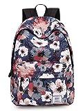 Leaper Floral Laptop Backpack Shoulder Bag Travel