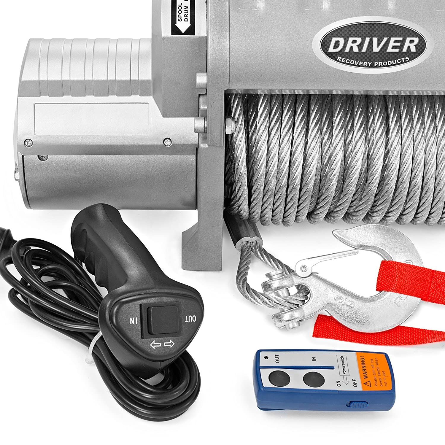 Ld12 Elite Electric Heavy Duty Recovery Winch 12000 Solenoid Switch Wiring Diagram Besides Badland Winches Lbs Capacity Wireless Remote Control By Driver Products Automotive