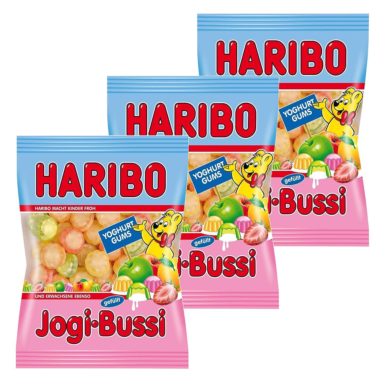 Haribo Jogi de Bussi, 3 Pack, ositos de goma, vino goma, Golosinas, en bolsa, bolsa, 200 g: Amazon.es: Alimentación y bebidas