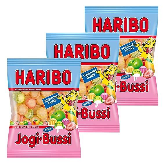 Haribo Jogi de Bussi, 3 Pack, ositos de goma, vino goma, Golosinas