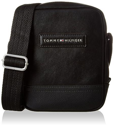 le dernier a64df c155a Tommy Hilfiger Corporate Mix Mini Reporter, Sac homme, Noir (Black),  6x20x16 cm (B x HT)