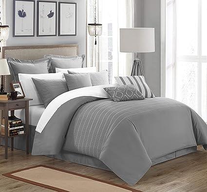 342a84720c69ec Amazon.com  Chic Home 9 Piece Brenton Comforter Set