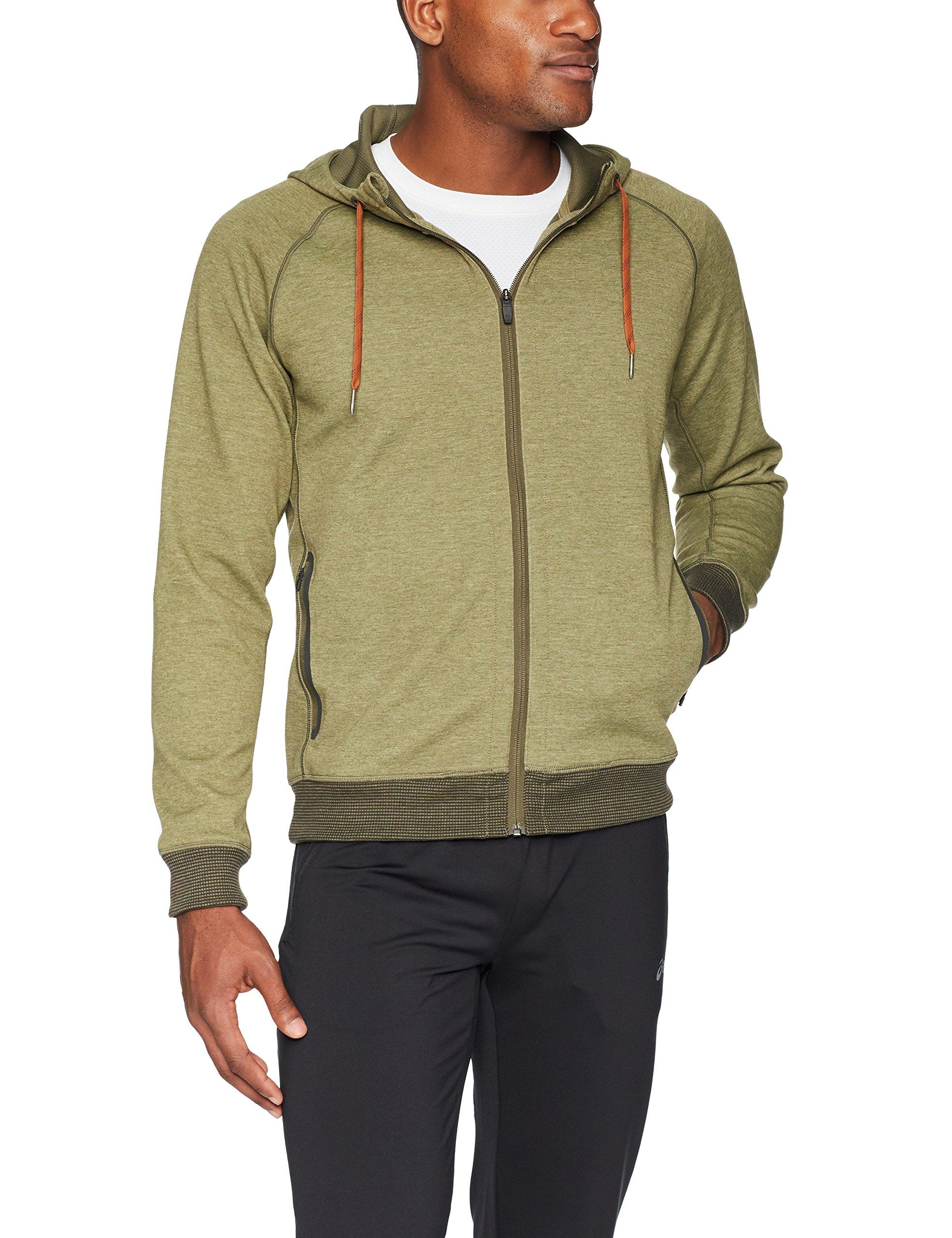 prAna Men's Halgren Tech Fleece Full Zip Hacket, XX-Large, Cargo Green Heather by prAna
