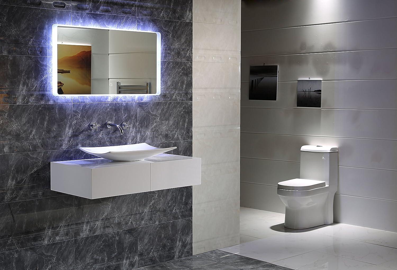 40 x 60 cm LED-Beleuchtung Touch Schalter Badspiegel GS044 Lichtspiegel Wandspiegel