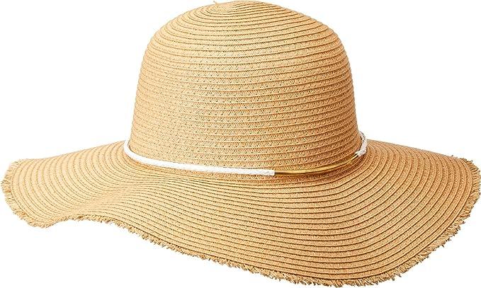 71403d23a San Diego Hat Company Women's Gold Bar Trim Paperbraid Floppy Hat ...