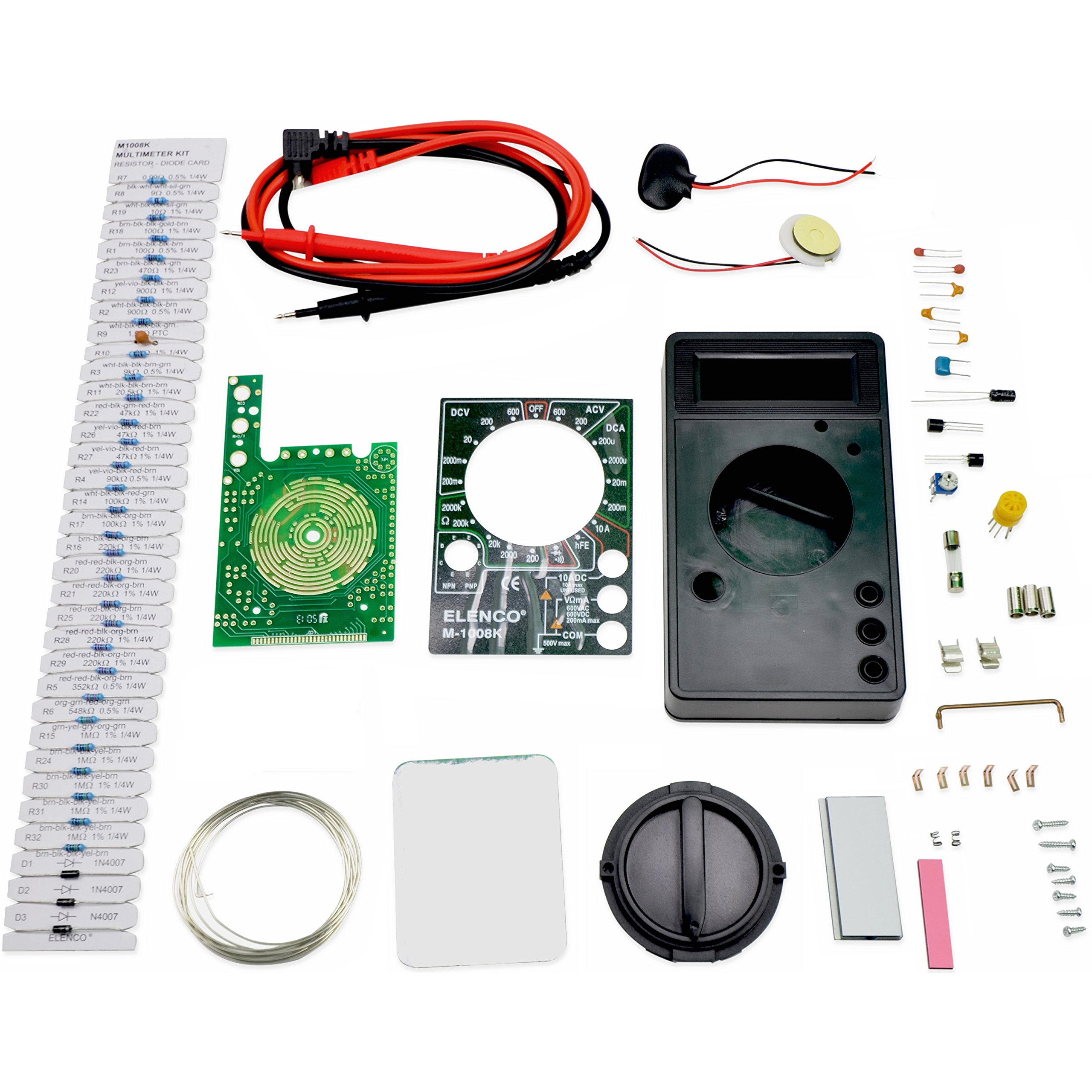 Elenco M-1008K - Digital Multimeter Solder Kit | Lead Free Solder | Great STEM Project | Soldering Required by Elenco (Image #2)