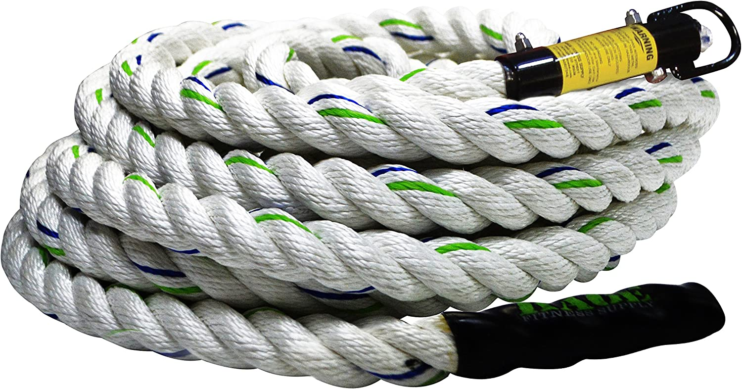 Rage Fitness Poly Climbing Rope, 18'