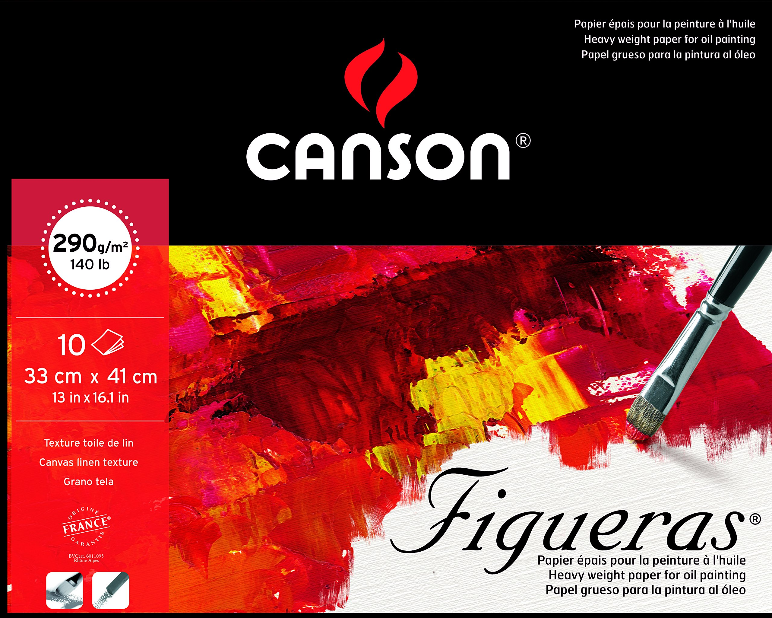 Canson : Figueras : Oil & Acrylic Paper : Pad : 33x41cm : 13x16in : Canvas Texture by Canson