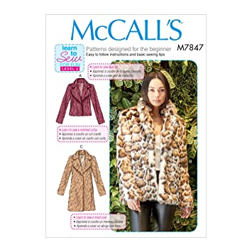 McCalls Patterns M7847 Misses Jacket/Coat Pattern OSZ (One Size) Multi