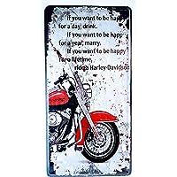 MI RINCON Placa de matrícula Vintage Motivo Harley-Davidson