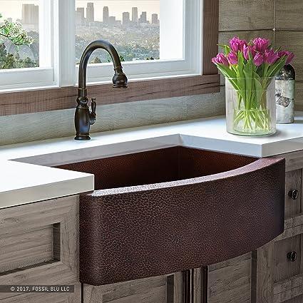 Luxury 33 inch copper farmhouse kitchen sink extra thick 14 gauge luxury 33 inch copper farmhouse kitchen sink extra thick 14 gauge pure solid workwithnaturefo