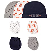 Hudson Baby Cap and Scratch Mitten Set