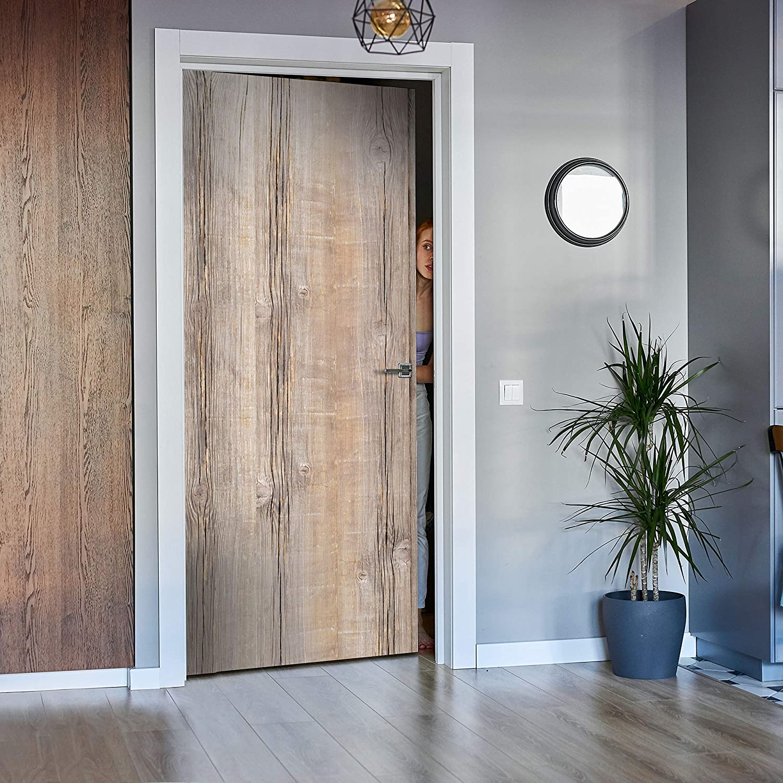 Tür-Aufkleber Türbild Wandbild M0720 Türtapete Holzbrett Tapete