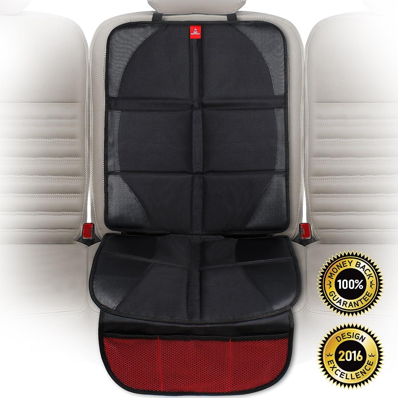 ROYAL RASCALS Autositzschutz / Beschützt die Polster mit gepolsterter Auflage / Fächeraufteilung / Universalgröße / Isofix / Strapazierbarer Fleckenschutz / PREMIUM PRODUKT XLR-1