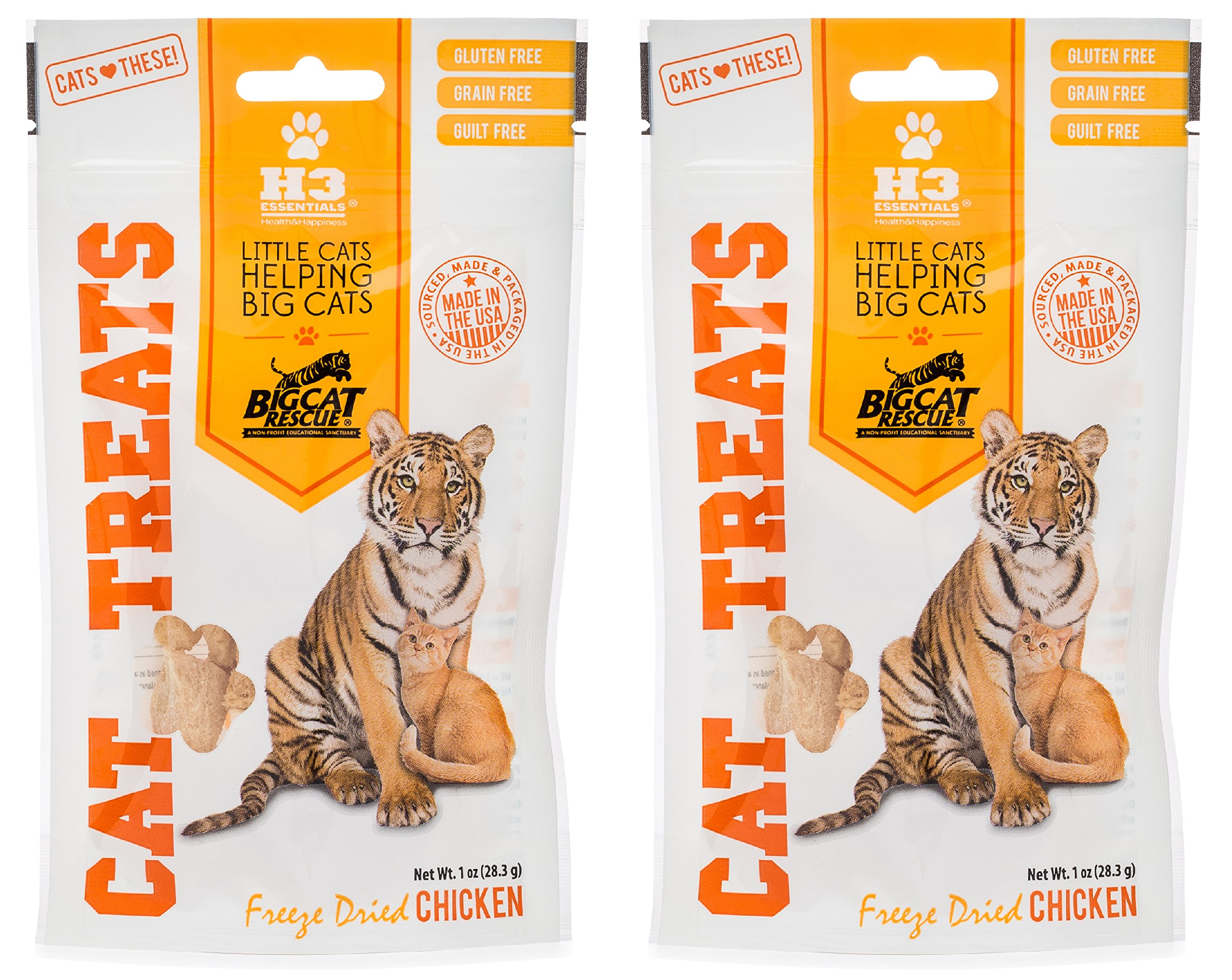 Big Cat Rescue  Freeze Dried Chicken Treats for Cats (2- 1oz packages)