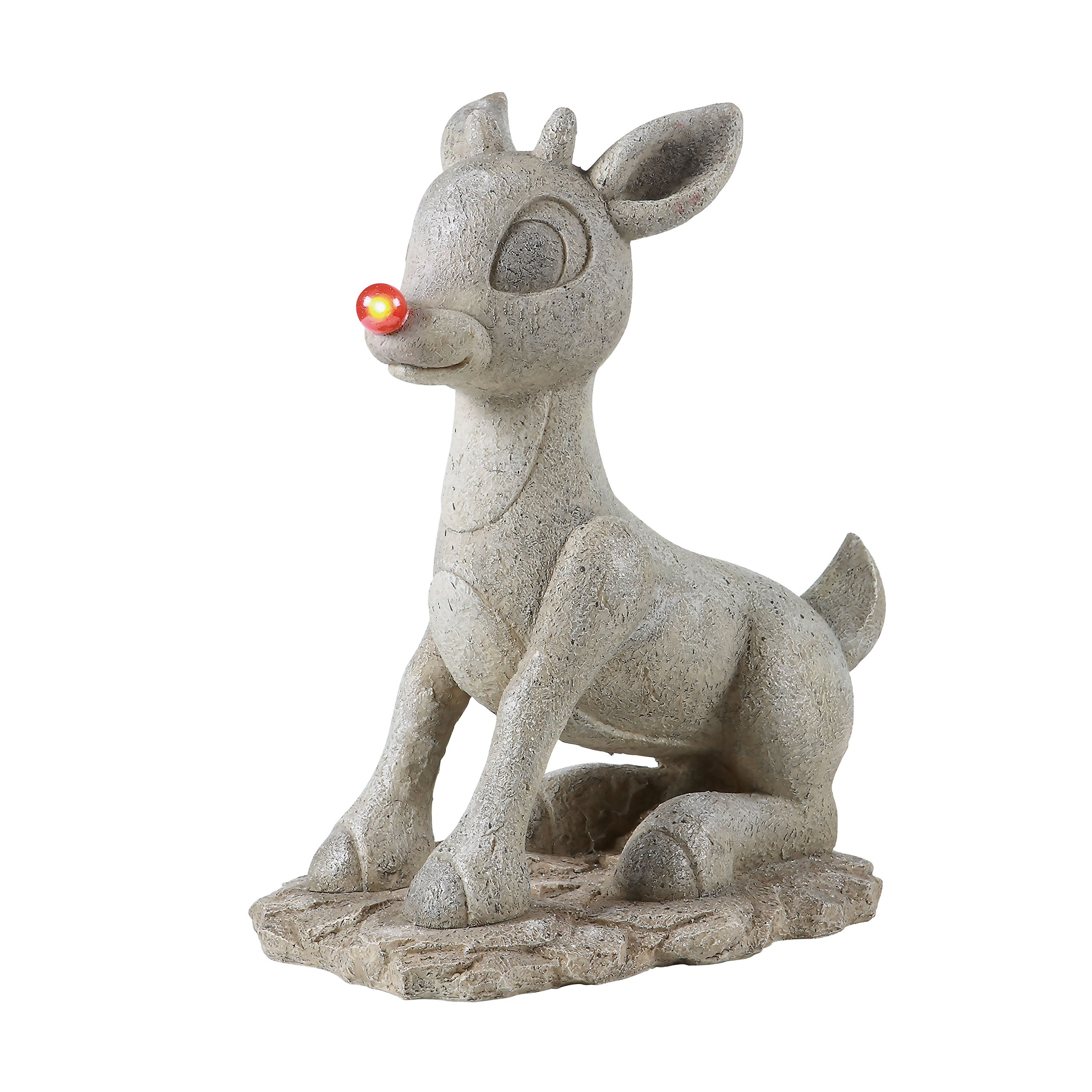 Rudolph Solar Powered Statue with Light Up Red Nose, 18 by 15.13-Inch by Rudolph