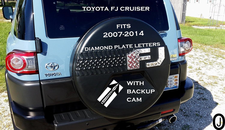 Amazon.com: Toyota FJ Cruiser Diamond Plate Letters F J Fits 2007-14 With  Back Up Cam: Automotive
