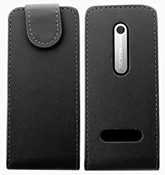 huge discount 8cc14 7a451 cellmax Nokia 301 Leather Flip Case for: Amazon.co.uk: Electronics