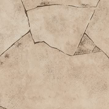 Gr/ö/ße: 2,5 x 3 m Meterware verschiedene Gr/ö/ßen 200 300 und 400 cm Breite Chip hell-beige PVC Bodenbelag Steinoptik