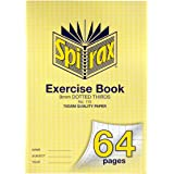 Spirax 115 A4 Exercise Book with 9MM Dotted Thirds (64 Pages)