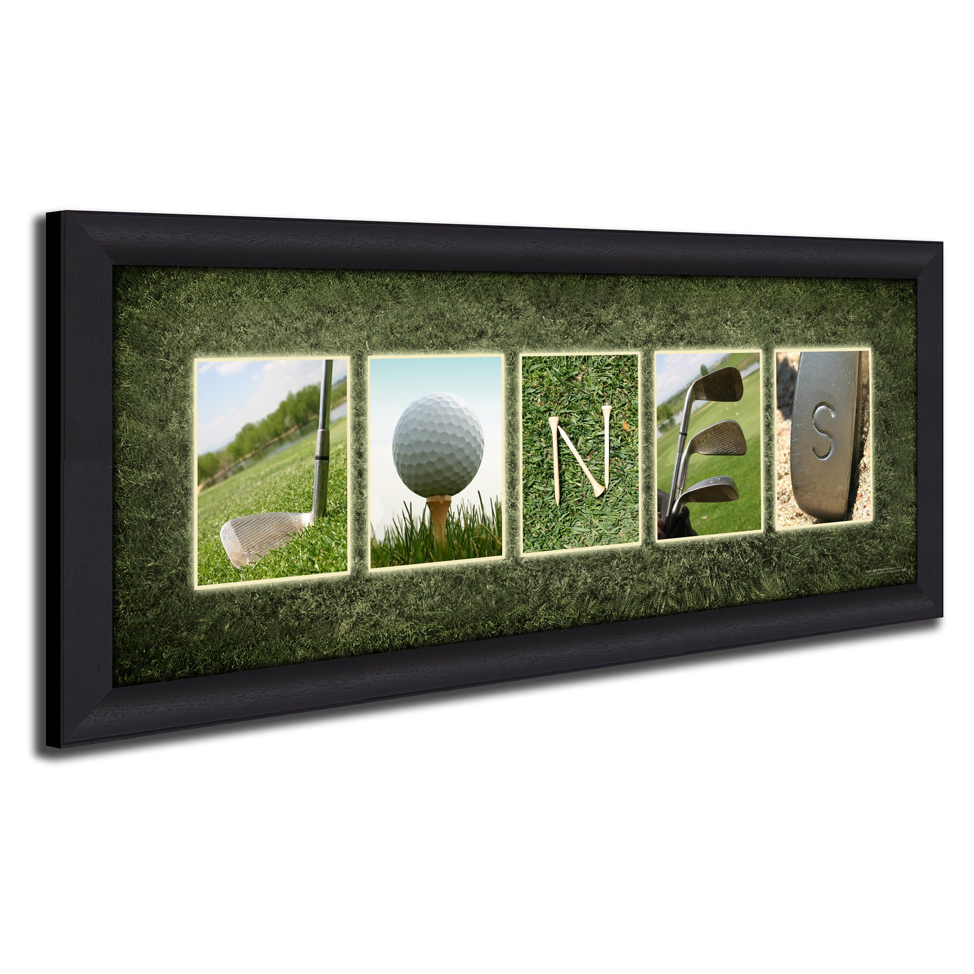 Framed Canvas - Personalized Golf Name Art - Perfect and unique customized gift for the golfer or golf enthusiast