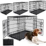 WOLTU HT2030m1 cage de transport pliable pour chiens ,Caisse de transport pour Chien,cage pour animaux,chats cage,métal,taille M,76x48x54cm