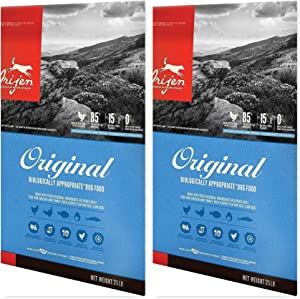 Orijen Original Dry Dog Food 50 Pound Bag Bundle, Dog Owners #1 Choice Includes (2) 25# Bags so to Keep Your Dogs Food Fresh Longer (Fast