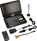 "Envizen Digital Quartet ED8890A Portable Television and Dvd Player, 9"" LCD, Black"