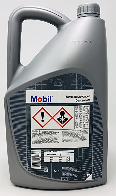 Anticongelante Refrigerante Avanzado - Mobil Antifreeze Advance Concentrado, 5 litros: Amazon.es: Coche y moto