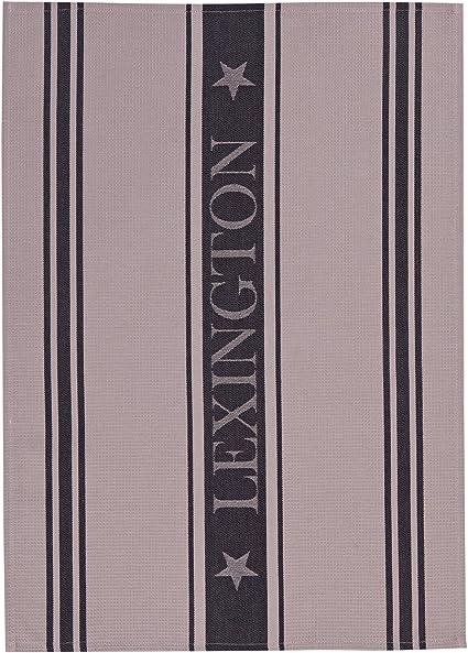 Lexington Pa/ño de Cocina Azul y Blanco Individual 70x50x0.2 cm Algod/ón Dise/ño Raya
