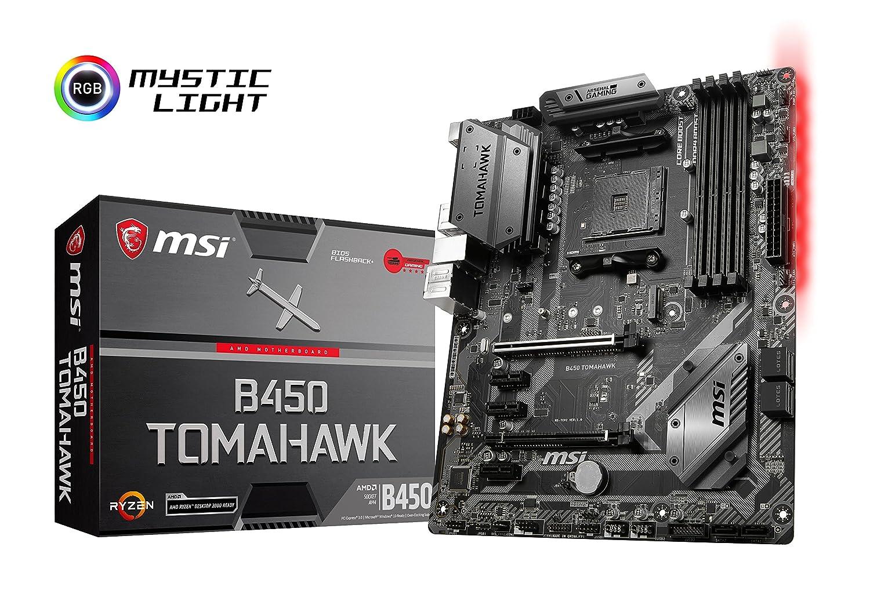 MSI B450 Tomahawk - Placa Base (AM4, AMD B450, 1 x PCI-E 3.0 x16 ...
