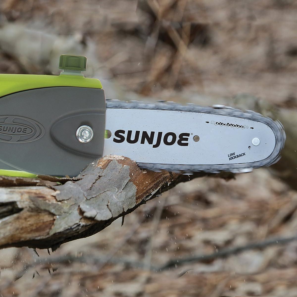 "Sun Joe iON8PS2 40V 4.0 Ah 8"" Telescoping Pole Chain Saw with Brushless Motor"