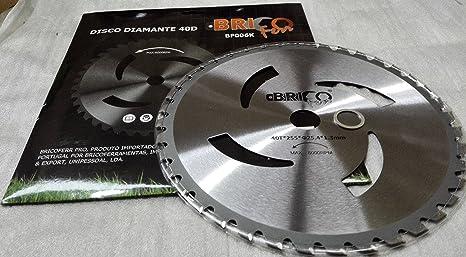 Bricoferr BF006K Disco cuchilla de Widia con 40 puntas semi ...