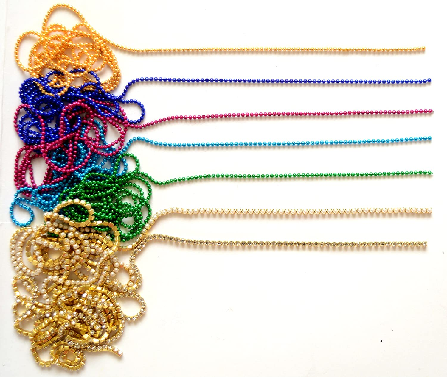 Buy Udhayam Color Ball/Pearl/Stone Chain For Jewellery Making ...