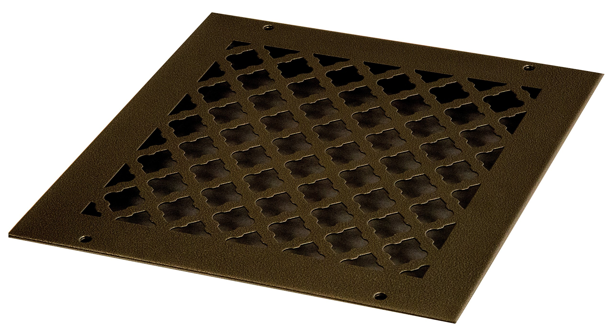 SteelCrest BTU10X10RORBH Bronze Series Designer Wall/Ceiling Vent Cover, with Mounting Screws, Oil Rubbed Bronze