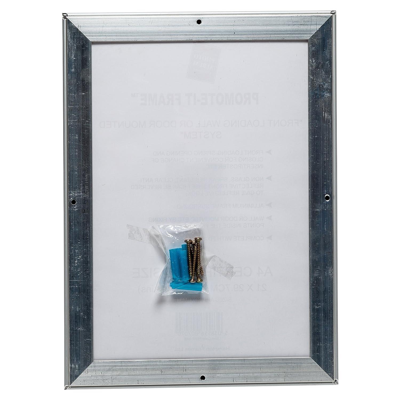 papfa4b promote-it Silber Aluminium A4 (21 x 30 cm) Poster ...