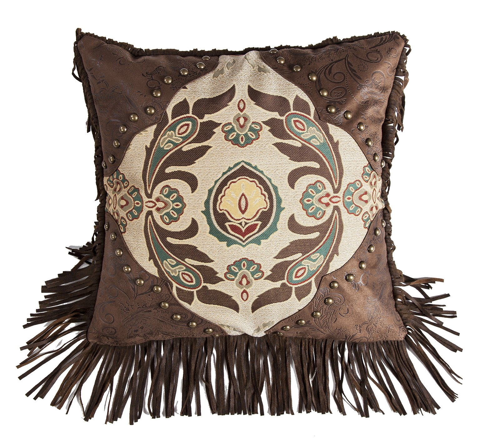 HiEnd Accents Western Concho Detail Style Pillow