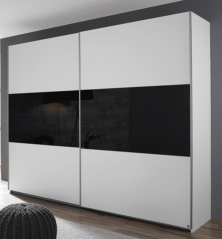 Rauch Humo Armario de Puertas correderas (2 Puertas Color Blanco/Cristal Negro 218 x 210 x 59 cm: Amazon.es: Juguetes y juegos