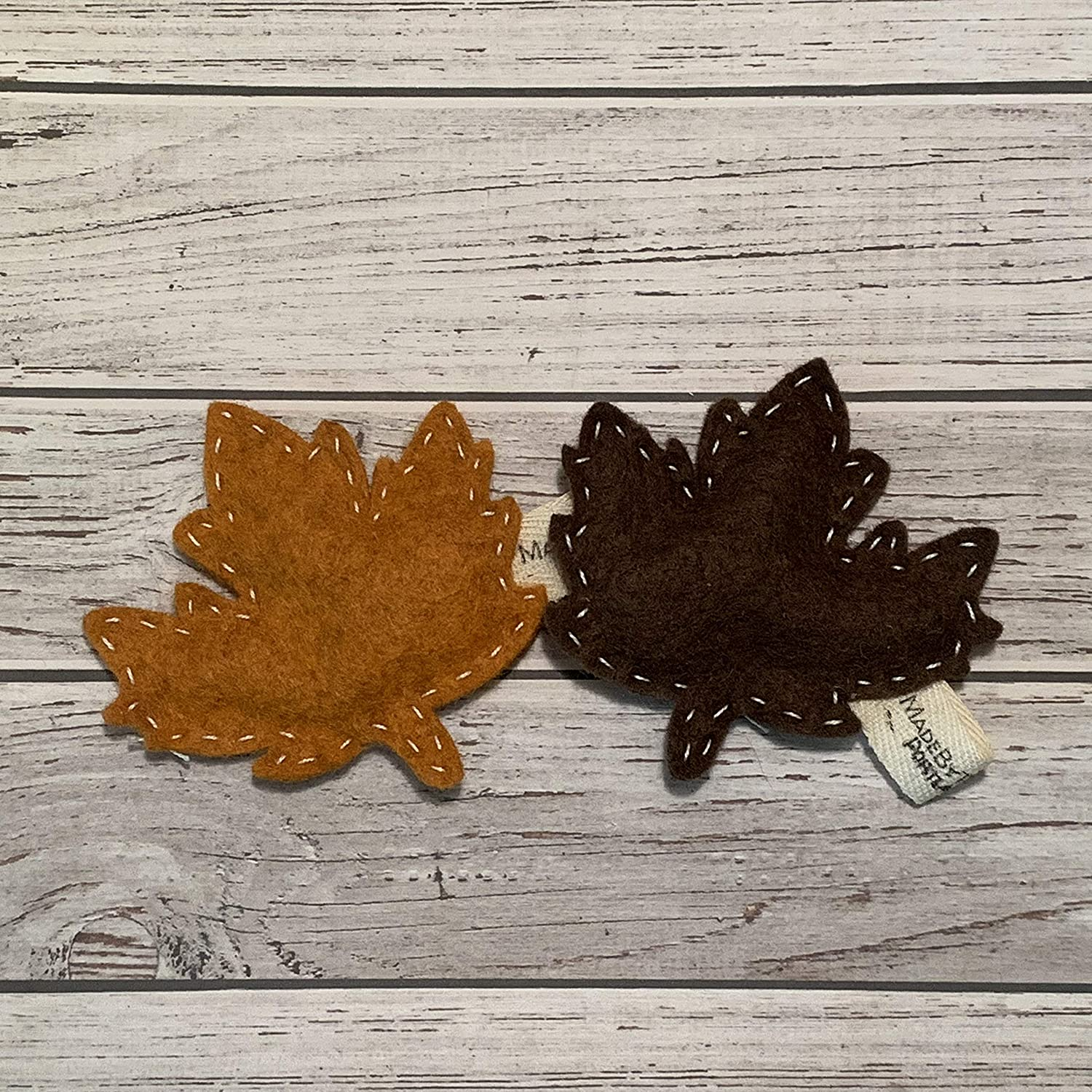 Catnip Cat Toy - Fall Leaves - Organic Catnip/Wool Felt/Set of 2
