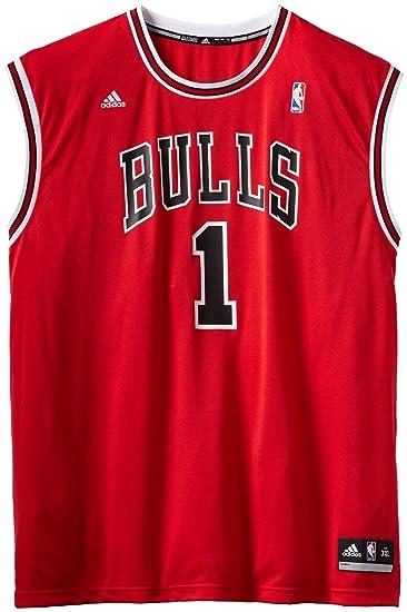 46aceab86f5 NBA Men s Chicago Bulls Derrick Rose Revolution 30 Road Replica Jersey H  Size (Red