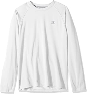 67fd8c66e Champion Men's Double Dry Long Sleeve Tee, Surf the Web Heather ...
