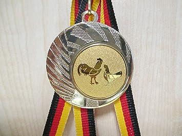 Medaille Medaillen Gold Kegeln