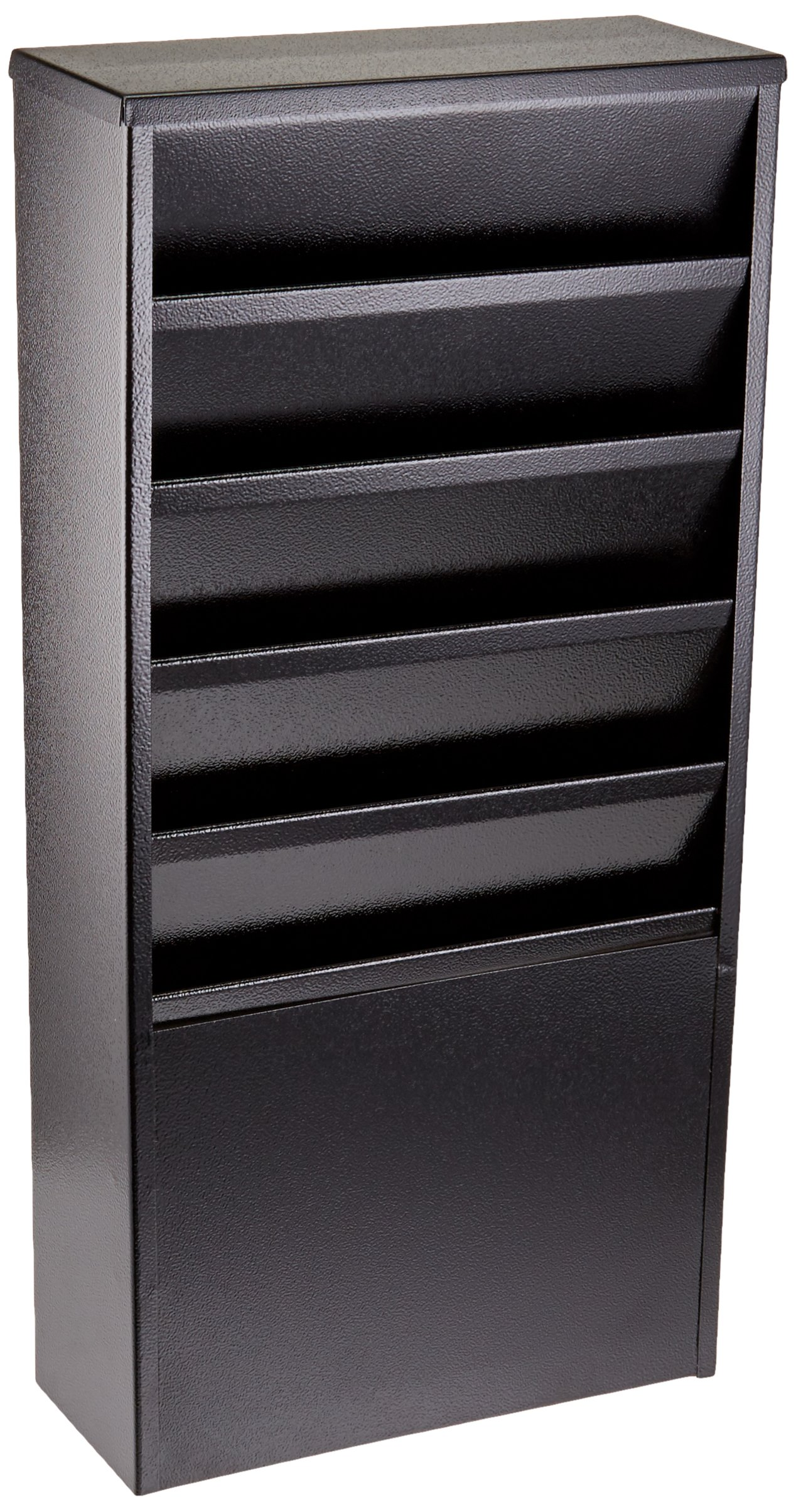 Buddy Products 5 Pocket Display Rack, Steel, 4 x 20.375 x 9.75 Inches, Black (0811-4) by Buddy Products